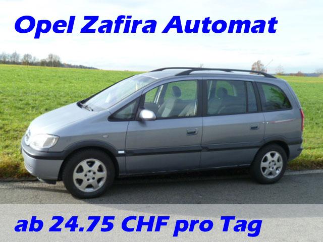günstige Langzeitmiete Opel Zafira